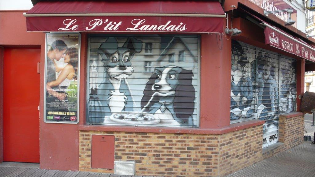 Décoration extérieur graffiti